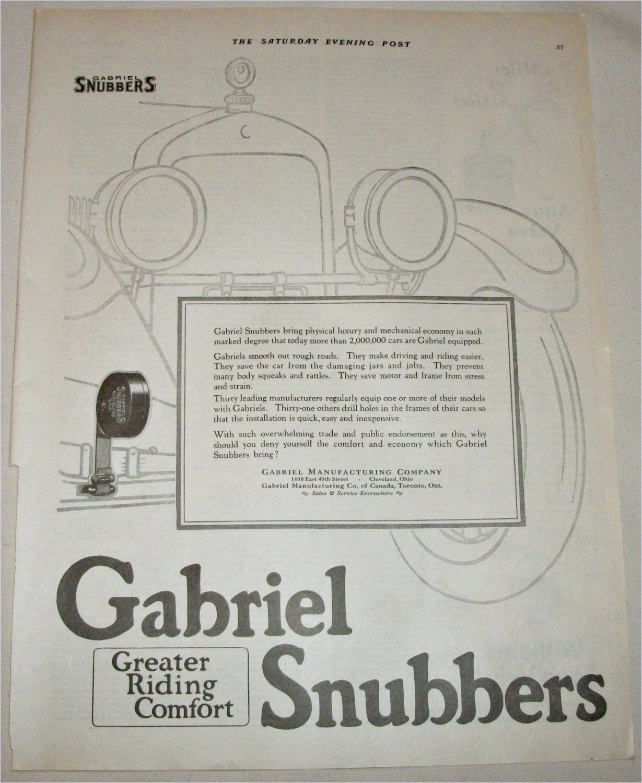 1924 Gabriel Snubbers ad