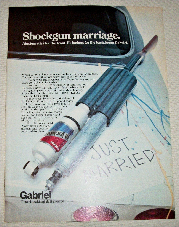 1972 Gabriel Shock Absorbers Shockgun Marriage ad