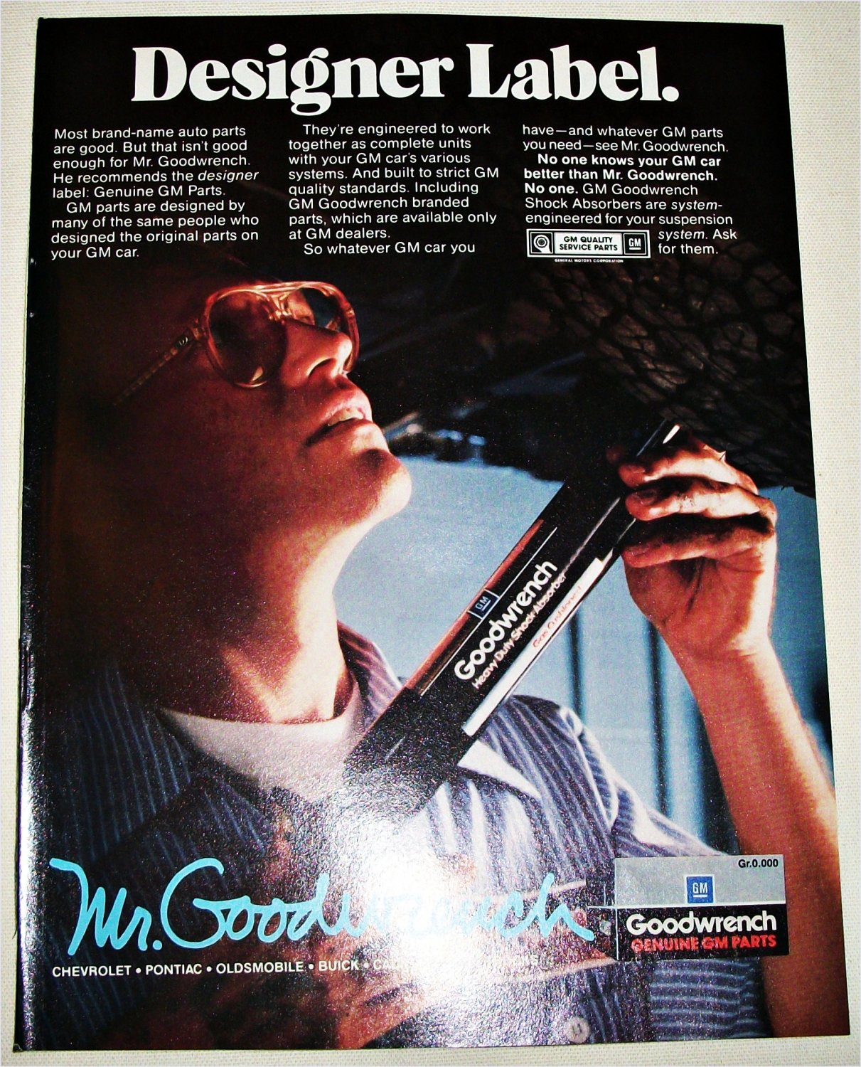 1986 GM Mr Goodwrench ad