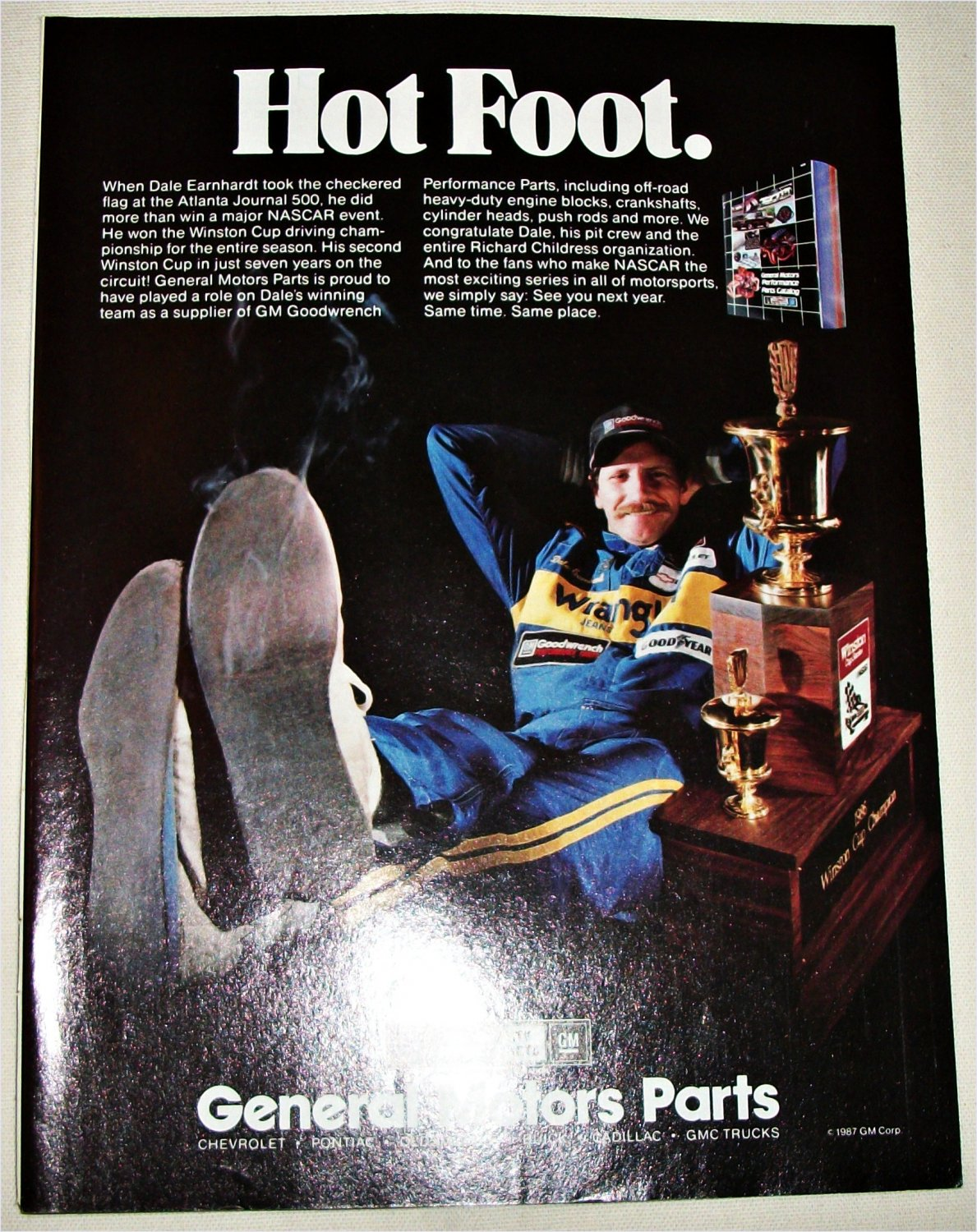1987 GM ad featuring Dale Earnhardt