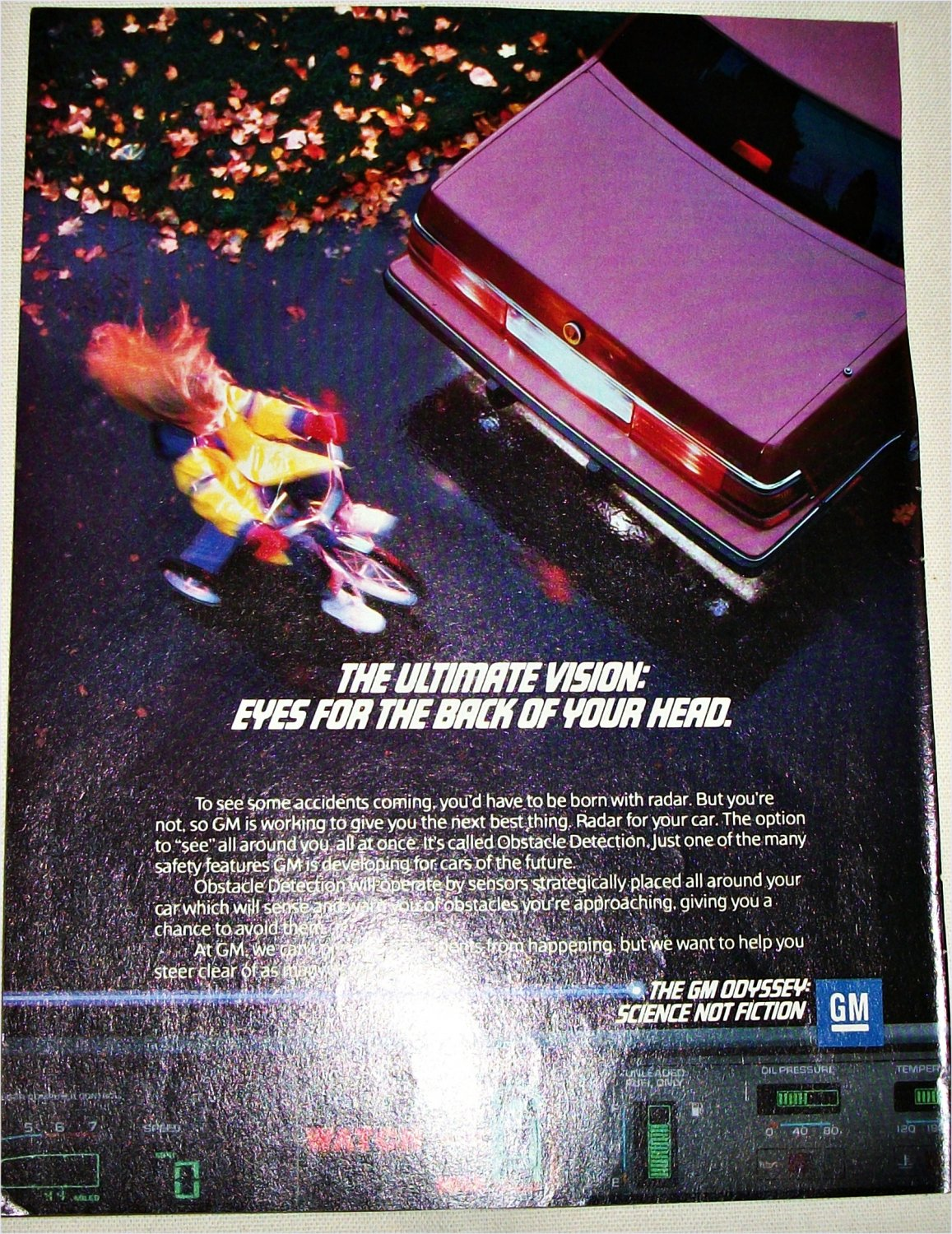 1987 GM Obstacle Detection ad