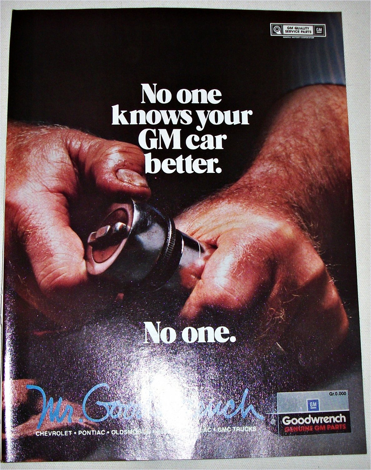 1987 GM Mr Goodwrench ad