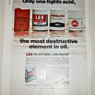 1970 Lee Oil Filters ad