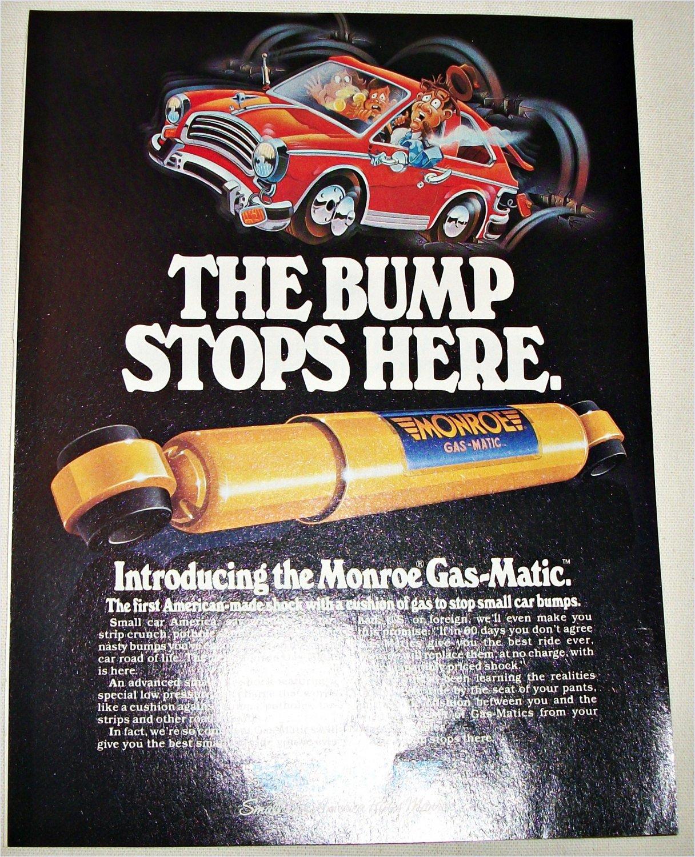 1982 Monroe Gas-Matic Shock Absorbers ad