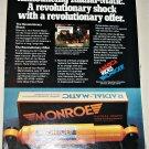 1977 Monroe Radial-Matic Shock Absorbers ad