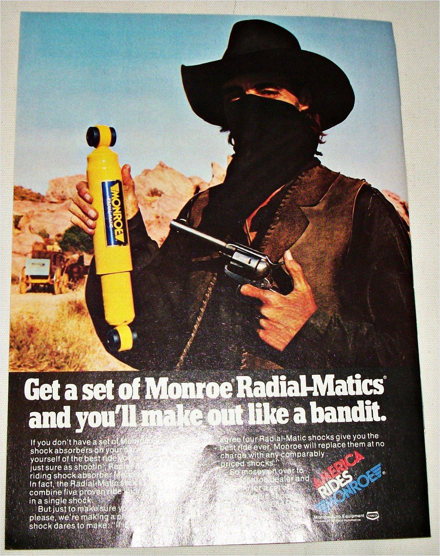 1979 Monroe Radial-Matic Shock Absorbers ad #1