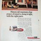 1981 Motorcraft Auto Parts ad #2