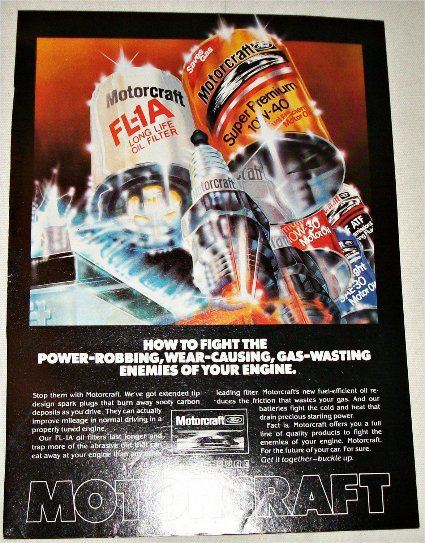 1982 Motorcraft Auto Parts ad #1