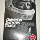 1983 NGK Copper Core Spark Plugs ad featuring Shirley Muldowney