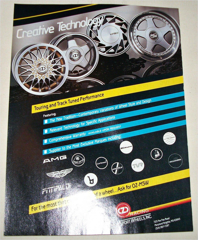 1990 O.Z. Motor Sports Wheels Inc ad