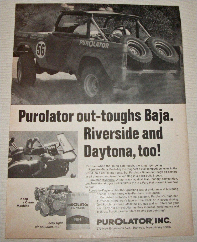 1970 Purolator Oil Filter ad