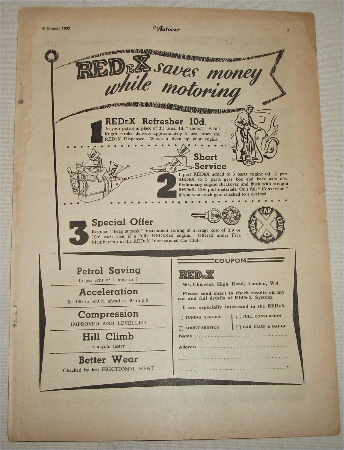 1955 RedeX Refresher ad from the UK