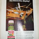 1971 Turtle Wax ad featuring Lamborghini