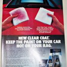 1985 Turtle Wax Clear Coat ad