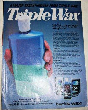 1985 Turtle Wax Triple Wax ad
