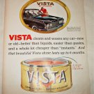 1960 Vista Car Wax ad