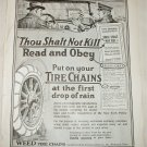 1921 Weed Tire Chains ad