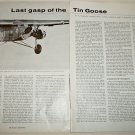 Last Gasp of the Tin Goose Trimotor article