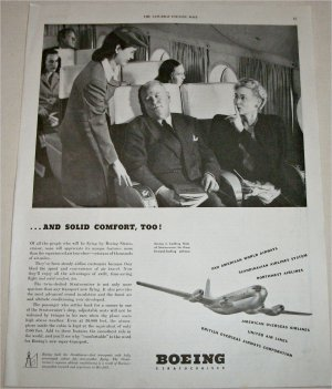 1947 Boeing And Solid Comfort ad
