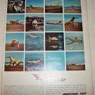 1963 Boeing 727 Jetliner ad
