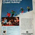 1970 Continental Airlines Ski Colorado ad