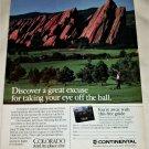 1987 Continental Colorado Golf ad