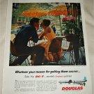 1958 Douglas DC-7 Aircraft ad
