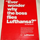 Lufthansa Airlines Red Baron ad