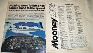 1976 Mooney 201 Aircraft ad