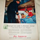 1956 Pan American Airlines Europe is only a Dream Away ad