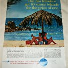 1962 Pan Am Airlines Sunny Islands ad