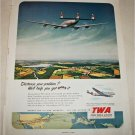 TWA Airlines Distance Your Problem ad
