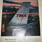 1963 TWA Airlines Air Travels New Look ad