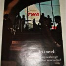 1965 TWA Airlines Jet Travel ad