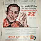 1956 Aetna Casualty Insurance ad