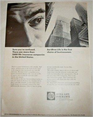 1965 Aetna Life Insurance ad