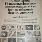 1968 Allstate Deluxe Homeowners Insurance ad