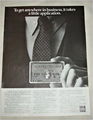 1982 American Express Card ad