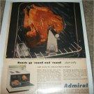 1955 Admiral Electric Range ad