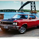 1970 AMC Rebel Machine ht car print (red & black)