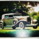 1933 Auburn Convertible car print (grey, white top)