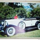 1933 Auburn 8-105 Phaeton car print (yellow & black, notop)