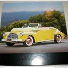 1941 Buick Convertible car print (yellow, no top)