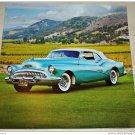 1953 Buick Skylark Convertible car print (green, white top)