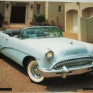 1954 Buick Skylark Convertible car print (blue, no top)