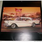 1957 Buick Special Coupe car print ( white & red)