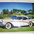 1957 Buick Special 4 dr Ht car print ( lavender & white)