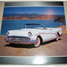 1957 Buick Roadmaster Convertible car print (white, no top)