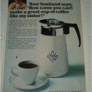 1967 Corning Ware Coffee Maker ad