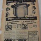 1948 Ekco Pressure Cooker ad